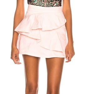 Isabel Marant Etoile Pink Coati Cotton Denim Skirt